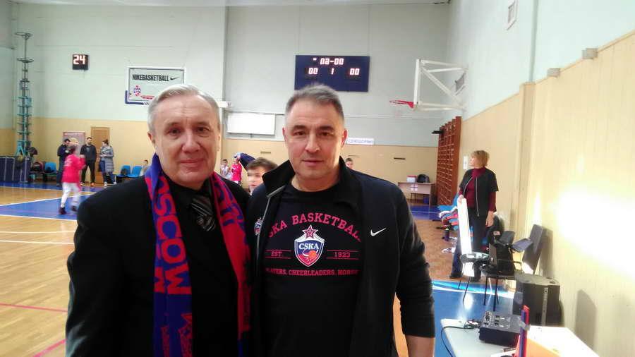 Андрей Шацков и директор СДЮШОР ЦСКА Сергей Чистяков.
